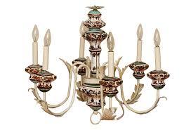 vintage italian hand painted chandelier