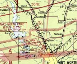 Dallas Fort Worth Sectional Chart Abandoned Little Known Airfields Texas Northwestern