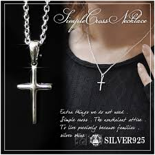 las necklace cross silver cross simple cross necklace shinjuku silver collection small simple cross silver necklace chain with pendant