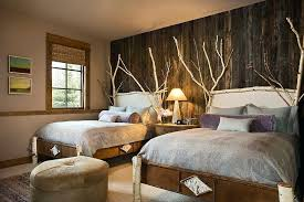 wood wall bedroom birch wood and reclaimed wood wall are perfect for the comfy rustic bedroom