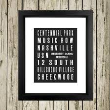 Nashville Sign Decor Dallas City Subway Sign Printable Instant from DNGeoEarth on Etsy 40