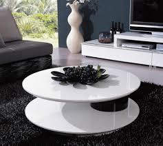 Artsy Coffee Tables Artsy Minimalist Coffee Table With Round Design On Black Area Rug