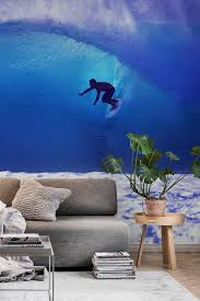 surf wall mural from happywall surfer