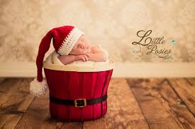 Crochet Baby Santa Hat Newborn Infant Toddler Girl Boy Photo