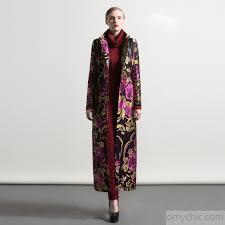 winter new thick cotton long trench coats women jacquard fashion slim fit coat parka