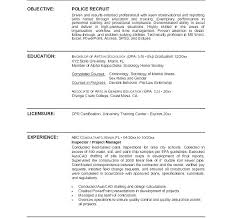 Resume Templates Word Doc Simple Police Officer Resume Templates Entry Level Police Officer Resume No