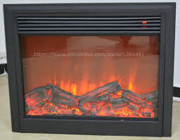 electric fireplace insert burner warm air blower remote controlled artificial optical flame heating fireplace