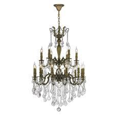 worldwide lighting versailles 30 in 18 light antique bronze crystal candle chandelier