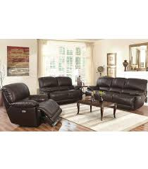 Living Room Sets Arleta Piece Leather Power Reclining Set