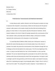 incidents in the life of a slave girl documents course hero consciousness and historical intervention final exam essay