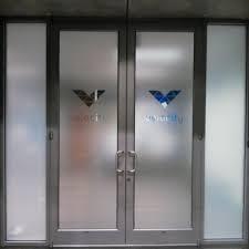 frosted glass door branding