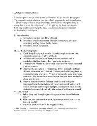 Example Of Response Essays Analytical Response Essay Example Thesis Reader Statement