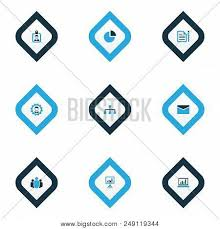 Unity Pie Chart Job Icons Colored Set Vector Photo Free Trial Bigstock