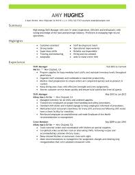 Fast Food Restaurant Manager Resume Resume Examples For Restaurant Restaurant Resume Examples
