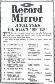 List Of Record Mirror Number One Singles Wikipedia
