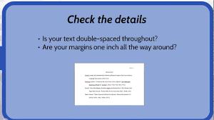 Mla Works Cited Page Checklist
