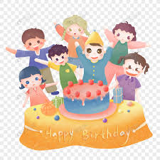 Cartoon Hand Painted Birthday Cake Png Material Png Imagepicture