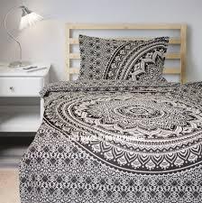 gray black dess twin bohemian mandala bedding duvet cover set with 1 pillow sham royalfurnish com