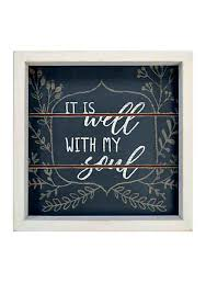 new view it is well with my soul wall box  on new orleans outdoor wall art with wall art decor for the bedroom bathroom living room belk
