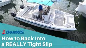 how to dock a twin engine boat in a really tight slip boatus