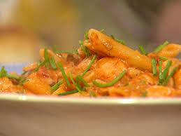 seafood pasta with sherry tomato cream