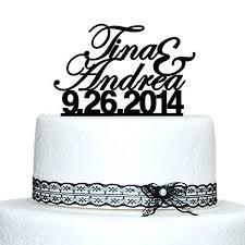 Custom Wedding Cake Topper Personalized Name Cake Topper Date Cake Topper Proposal Cake Toppers