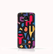 Motorola Moto Z2 Play Tpu Silicone Case With Abstract Font