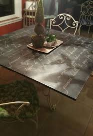 painted board for glass top dining table hometalk throughout how to paint a design 5