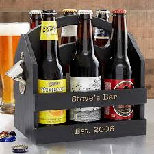 personalized 6pk beer caddy bottle opener 19151