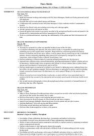 Health Technician Resume Samples Velvet Jobs
