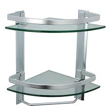Corner Shelving Unit For Bathroom Corner Glass Bathroom Shelving Unit Aluminum Bathroom 100 Tier Glass 55