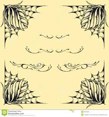 Roses Frame Oldskool Tattoo Style Design Set 02 Stock Vector