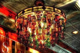 chandeliers beer bottle chandelier beam glass beer bottle chandelier lighting industrial water pipe vintage bar