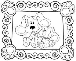 Small Picture blue clues coloring pages 7 blue s clues paw print blues clues