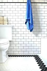 blue mosaic border tiles ideas to use all 4 tile types black on the bathroom floor bathroom border