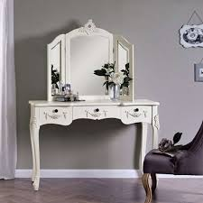 decorative bathroom mirror. Toulouse White Large Dressing Table And Mirror Decorative Bathroom Mirrors Framed With Lights Built In 2