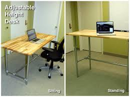37 diy standing desks built with pipe and kee klamp simplified decor of adjule standing desk diy