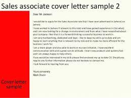 Retail Associate Cover Letter Retail Associate Cover Letter Example Sales Associate Cover Letter