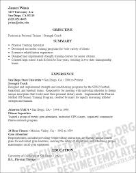Personal Training Resume Sample Personal Trainer Resume Sample