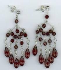 sterling silver swarovski chandelier earrings