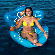 salon lounge chair float inflatable pool river lake w cup holder