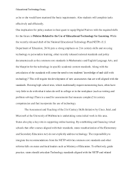educational technology essay  knowledge 4 educational technology essay
