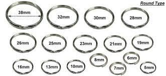 Split Key Ring Size Chart Yokes Key Chain Key Ring Key Holder Lobster Holder