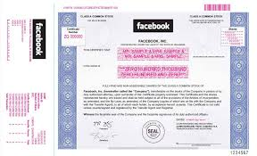 Stock Certificats A New Facebook Derivative Trade The Stock Certificate
