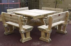 8 seats round pub picnic table bench and benches for your garden popular tables the picnic table bench and benches