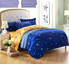 yellow toile duvet cover queen king twin bedding bed sets for kids 4 5 star moon