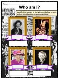 Womens History Month 2018 Facts Worksheets Background For Kids