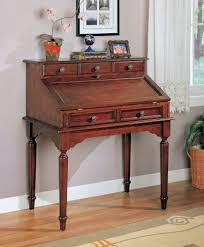 com coaster beautiful wood secretary office desk table with storage drawers kitchen dining