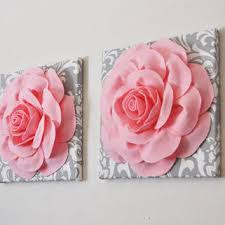 two light pink roses on gray and white damask canvases wall art on pink rose canvas wall art with best damask wall art products on wanelo