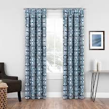 elena medallion blackout rod pocket single curtain panel